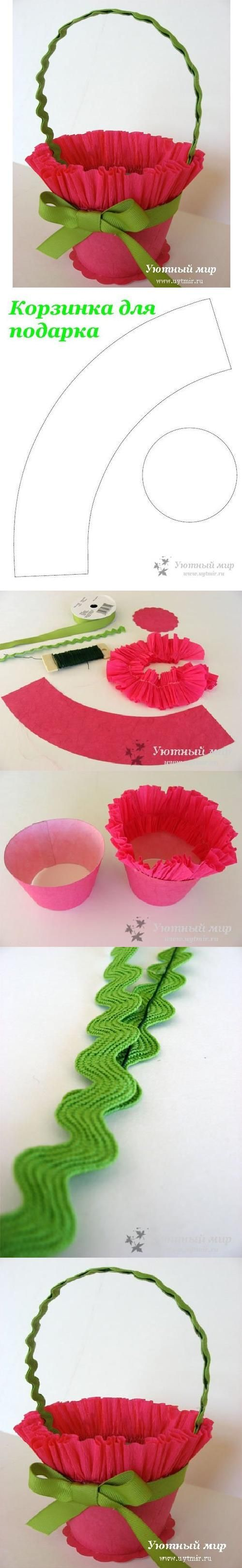 DIY Simple Gift Basket DIY Projects | UsefulDIY.com Follow Us on Facebook ==> http://www.facebook.com/UsefulDiy