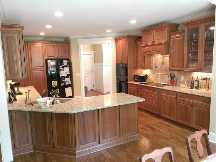 an open kitchen layout completed with our partner wolf