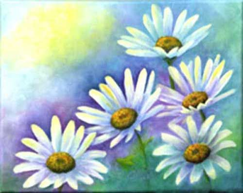 Best 25 daisy art ideas on pinterest flower painting for Painting flowers in acrylic step by step