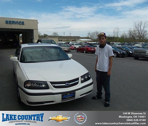 Lake Country Chevrolet Cadillac would like to say Congratulations to Lon Gilford on the 2002 Chevrolet Impala
