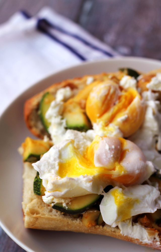 Zucchini and Goat Cheese Breakfast Crostini on Eats Well With Others
