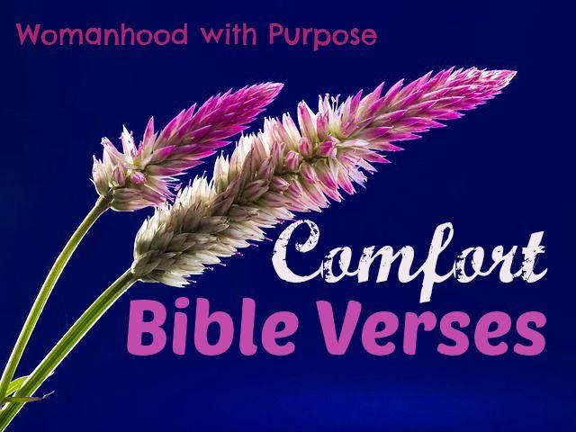 8 Comfort Bible Verses - #comfort #Bible #Bibleverses http://www.womanhoodwithpurpose.com/8-comfort-bible-verses/