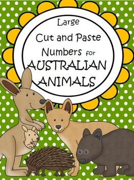This is a set of large cut and paste numbers for an Australian Animals theme, 1-12. Encourages skills and understandings:• Number recognition • Counting one to one • Cutting on lines skill • Pasting in a space skill • Categorizing items • Understanding Australian animals • Tracing numbers • Drawing a picture about a particular subject.