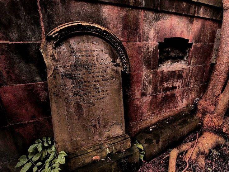 Weathered headstone, Glasgow Cathedral Burial Ground, Glasgow SCOTLAND