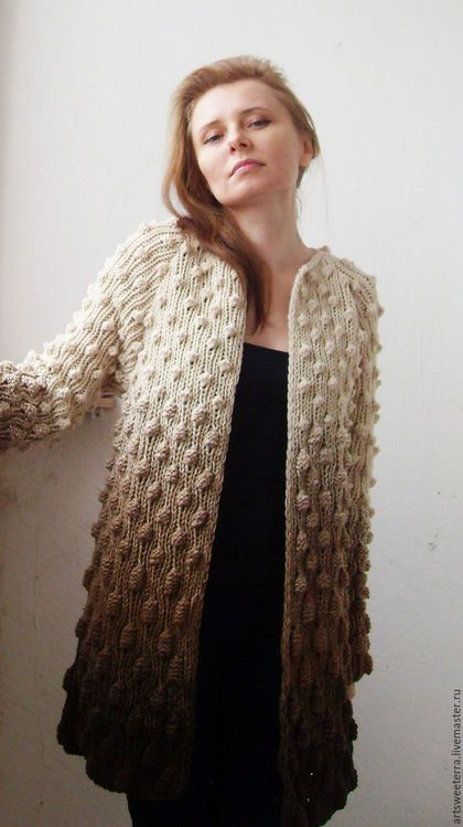 Кофты и свитера ручной работы. Вязаный кардиган женский 3. Art sweeterra. Интернет-магазин Ярмарка Мастеров. Ручное вязание