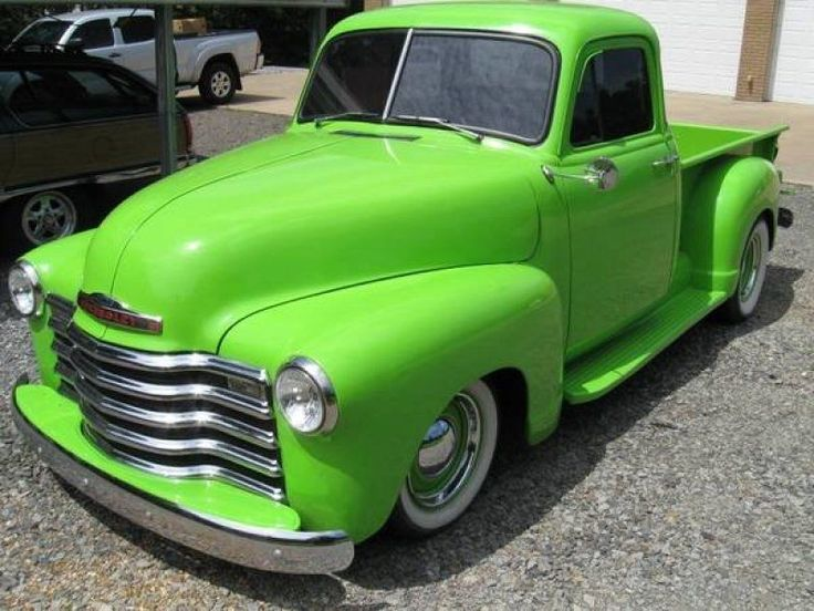 1951 Chevy-Generally not a big fan of green vehicles but this one looks pretty awesome