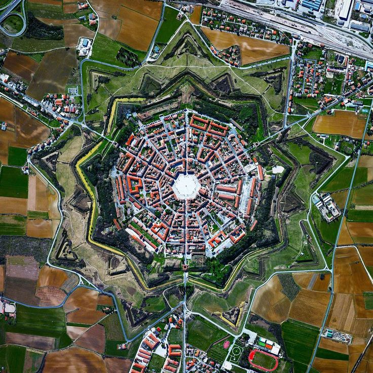 The star fort of Palmanova, Italy. If you want to learn more about the earth, you should see it from above.