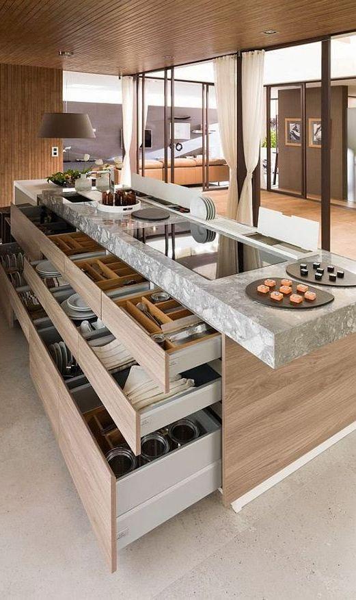 21 Stunning Luxurious Kitchen Designs Kitchens Luxury Kitchen Diseno Muebles De Cocina Diseno De Interiores De Cocina Cocinas De Casa