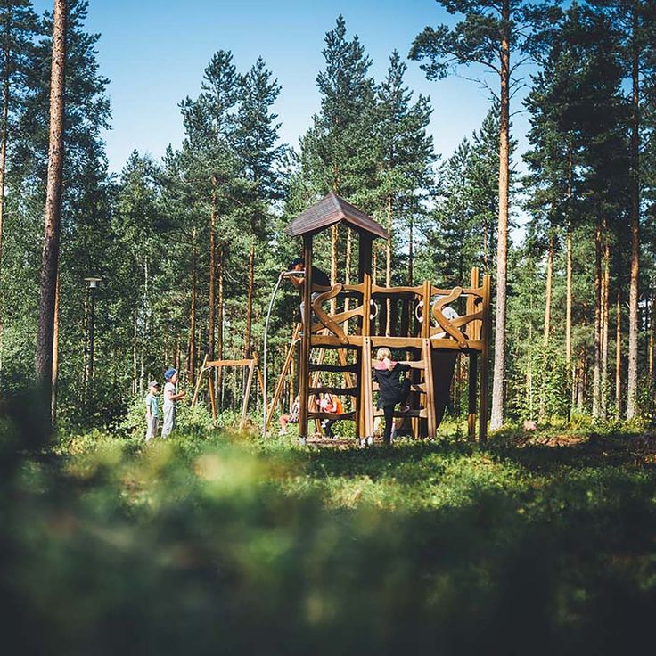 This amazing Flora- playground is located in Tyrnava, Finland.