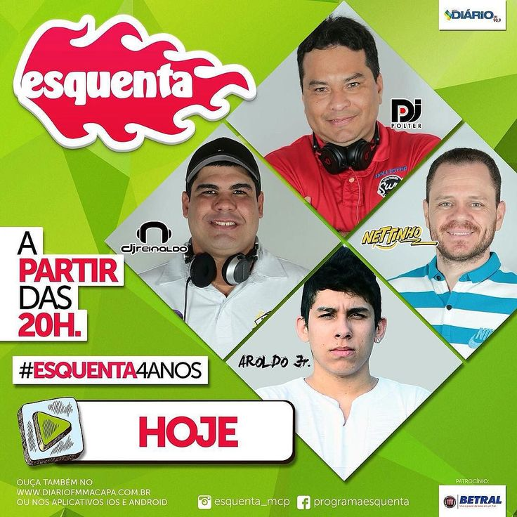 Hoje é dia de fritar tudo no melhor programa de dance music do norte do Brasil. A partir das 8h da noite você vai dançar com os djs @djreinaldo_  @djpolter  e o convidado da noite @djraroldojr  no comando do programa o nosso locutor da alegria @pulsenettinho .  Programa 100% ao vivo. Escute sem moderação!! #technics #serato #live #radio #HouseMusic #DeepHouse #ProgressiveHouse #IndieDance #NuDisco #EDM #FutureHouse #Ghouse #underground #emusic #2000nexus #djm900nexus #pioneer #turntable…