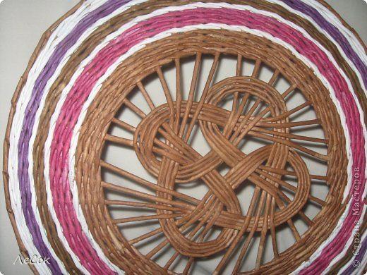 Поделка изделие Плетение Корзинка на заказ Бумага газетная Трубочки бумажные…