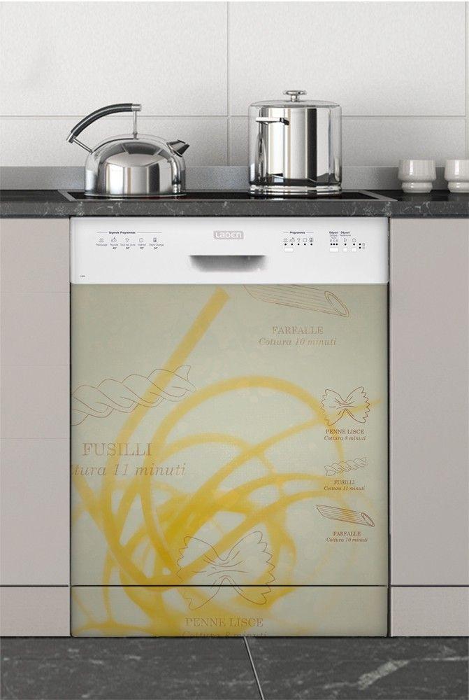Al Dente, Sticker Lave-vaisselle  - Stickers électroménager #sticker #électroménager #deco #intérieur #papierpeint #surmesure #peinture #graphisme #wallpaper #lavevaisselle
