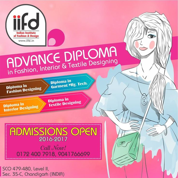 Advance Diploma In Fashion Interior Textile Designing Admission Open Fill