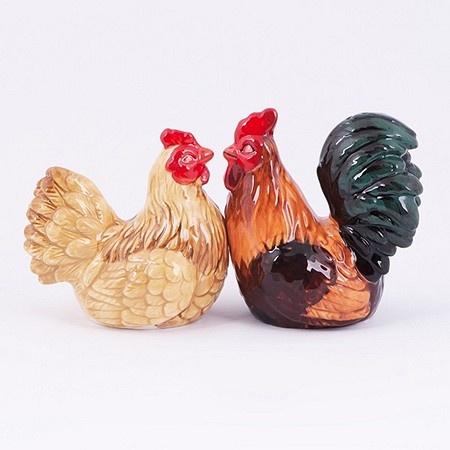 Peper- en Zoutstel Kippenpaar