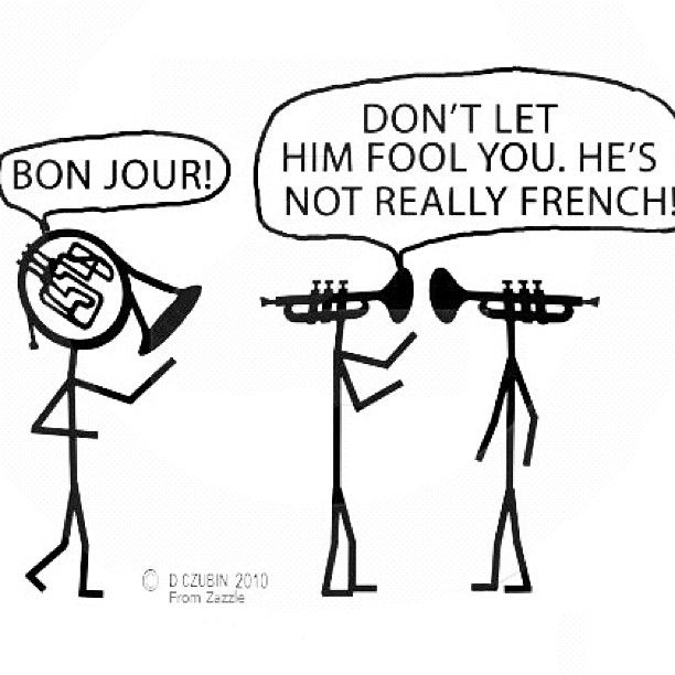 Music joke! ~ Bonjour French Horn ~ pinned by http://forbesmusic.com