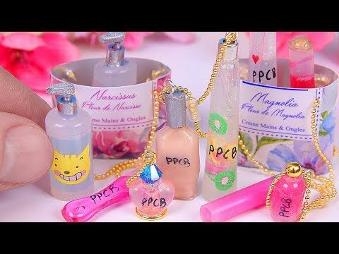 6 DIY Miniature Make-Up Miniatures & a Bag - YouTube | Miniature
