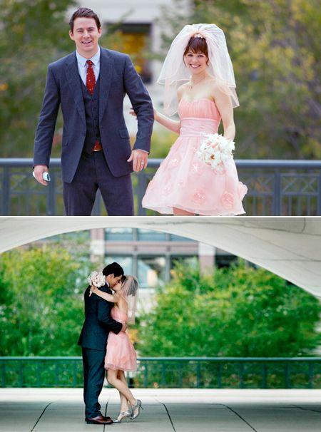 LOVED Rachel McAdams' short, pink wedding dress in the movie The Vow. <3