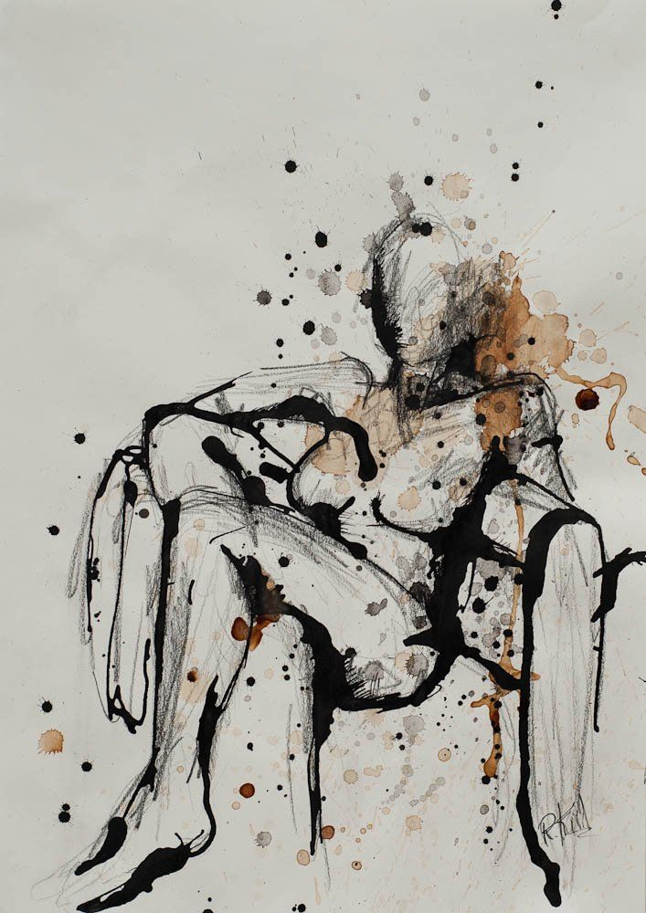 Ink on paper (By Rikke Kiil)