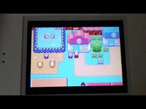 Pokemon Emerald/Ruby Screen Comparison  GBA SP vs DS Lite