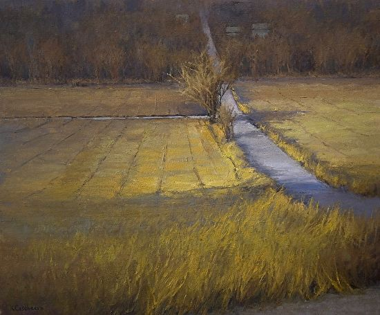 BoldBrush Painting Competition Winner - January 2013 | Curve in the Road by Kim Casebeer