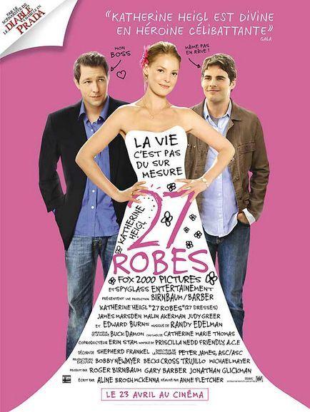 27 Robes. 3/5. Si vous voulez voir un film dans les innombrables films d'amour avec Katherine Heigl, je dirais que c'est celui-ci le mieux.