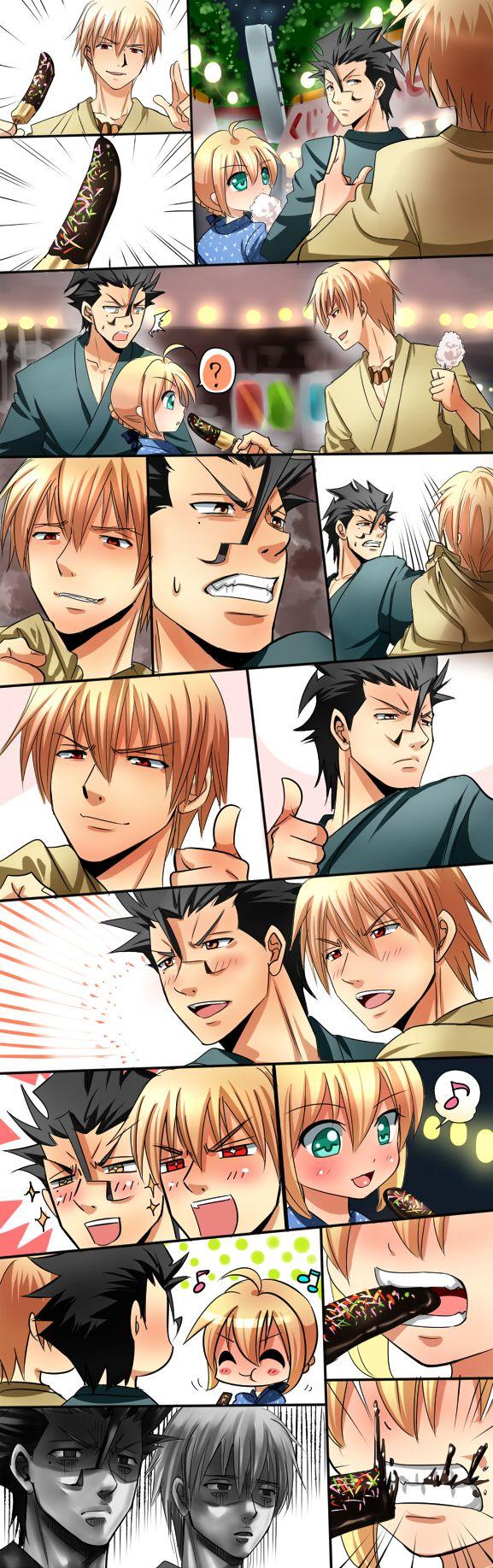 Lancer Saber and Archer Fate/Zero