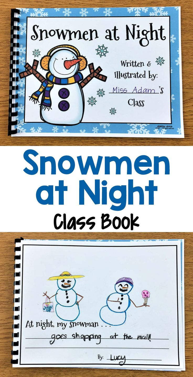 Snowmen at Night writing activity - These cute winter writing prompts are great to use anytime during the winter season. They are perfect to spark your kids' creativity and help them get excited about writing! There are NINE different creative prompts to choose from so you can select the one(s) that best match the ability level of your class. You could also put a few of them in your writing center and let the children pick which one they want.