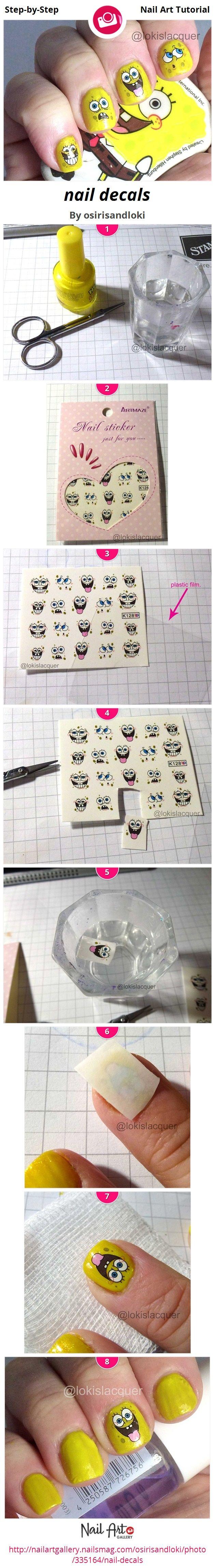nail decals by osirisandloki - Nail Art Gallery Step-by-Step Tutorials nailartgallery.nailsmag.com by Nails Magazine www.nailsmag.com #nailart