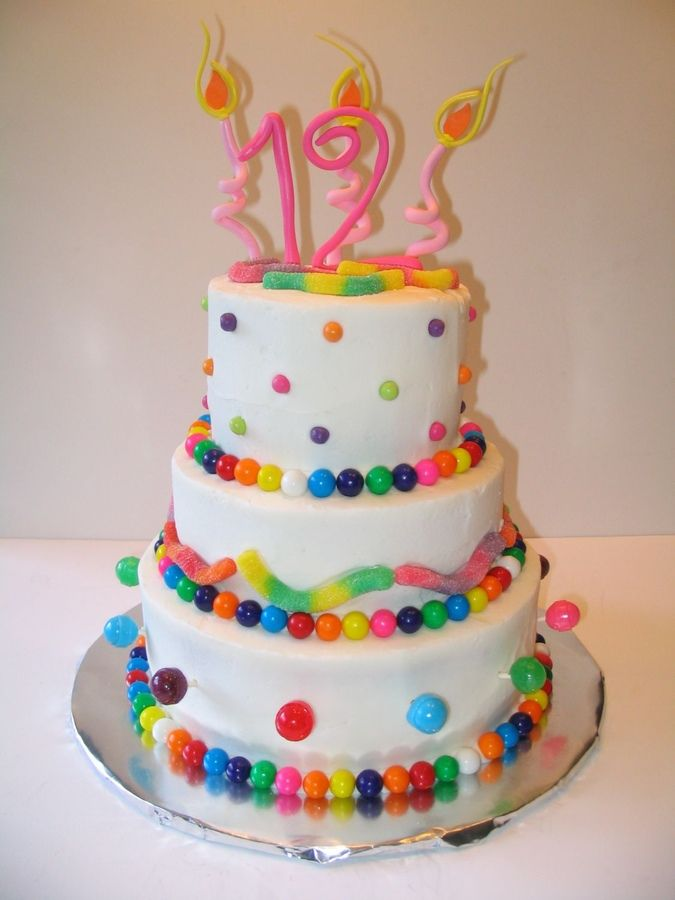 Another candy cake made for a twelve year old girl.