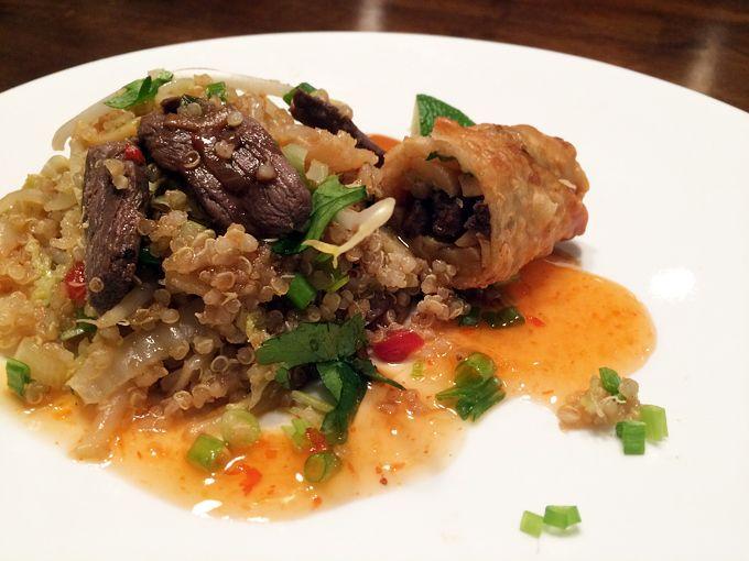 Duck Stir-fry with Quinoa | http://www.nevadafoodies.com/duck-stir-fry-with-quinoa/