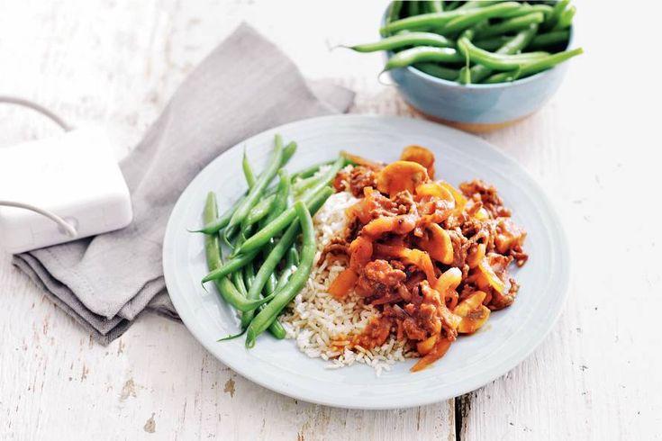 Eenvoudige gehakthachee met rijst - Recept - Allerhande