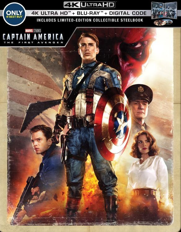 Captain America The First Avenger Steelbook 4k Ultra Hd Blu Ray Blu Ray Only Best Buy 2011 Best Buy Captain America Avengers Movies Captain America 1
