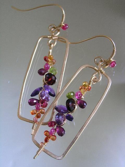 .wire beaded earings