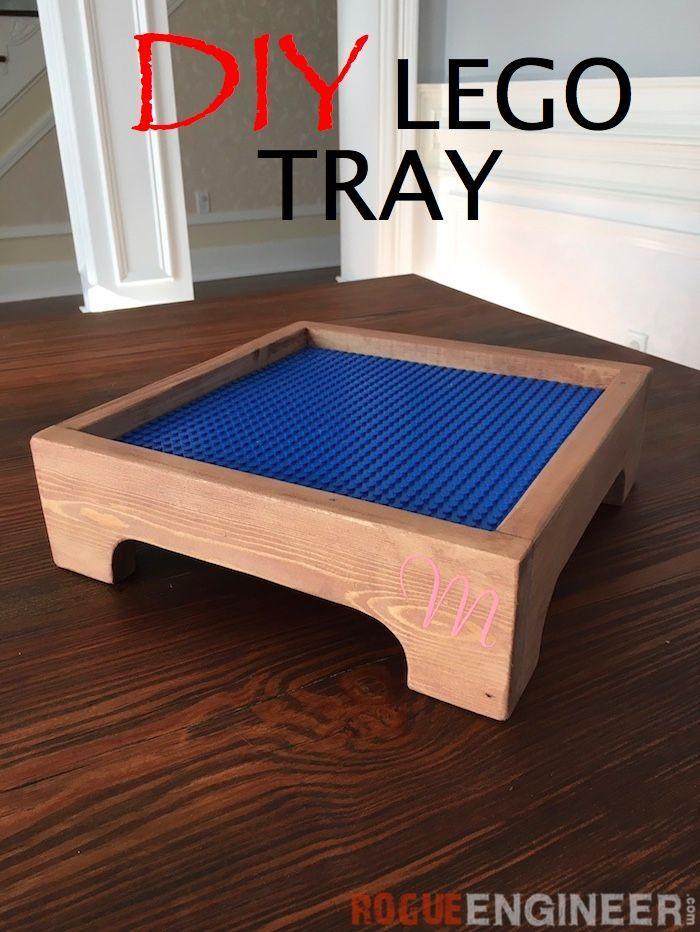 DIY Lego Tray - Free & Easy Plans | rogueengineer.com #LegoTray #BabyChildDIYPlans