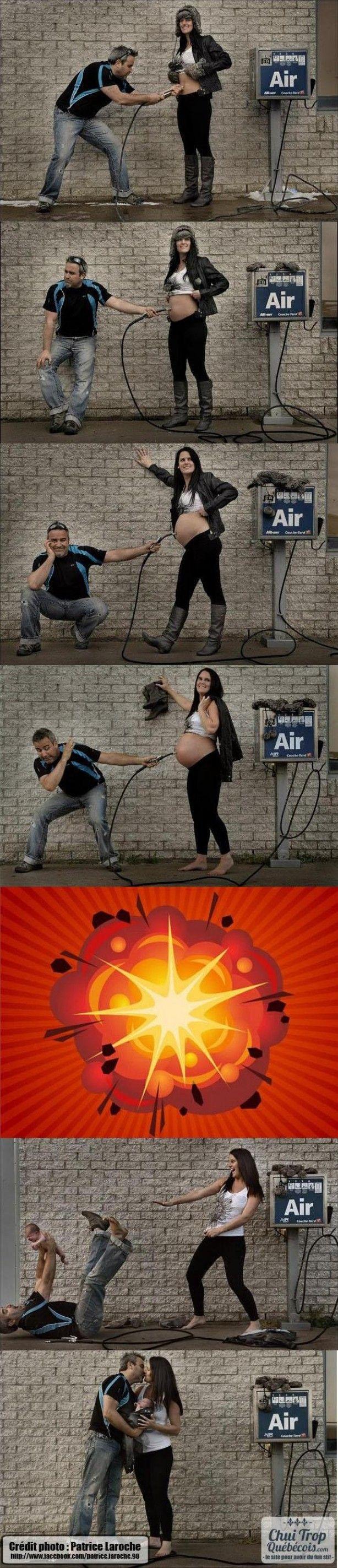 Originele foto's verloop zwangerschap