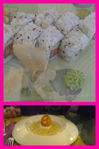Random dishes #sushi #friedegg