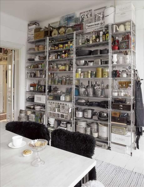 open storage kitchen i do like the industrial feel that ikea s shelves provide 1211