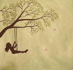 swing set girl silhouette - Google Search