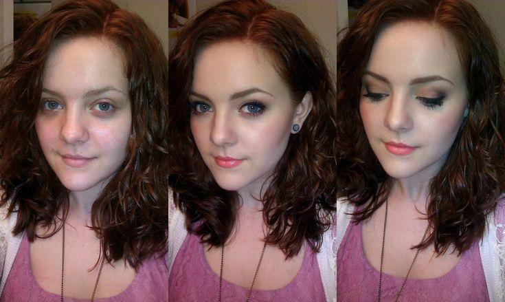 Chica durante el proceso de aplicación de maquillaje