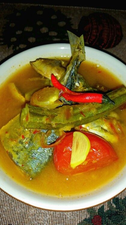 From my kitchenasam rebus tempoyak ikan kembung