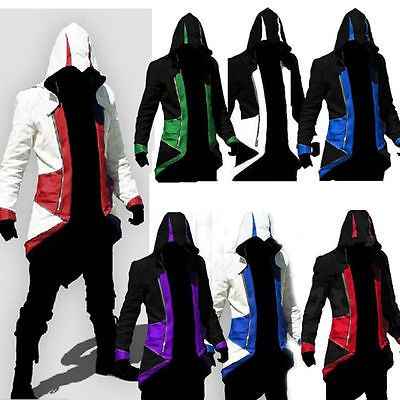 #Assassin's creed 3 #conner #kenway hoodie jacket coat cloak cosplay costume hall, View more on the LINK: http://www.zeppy.io/product/gb/2/142142045949/