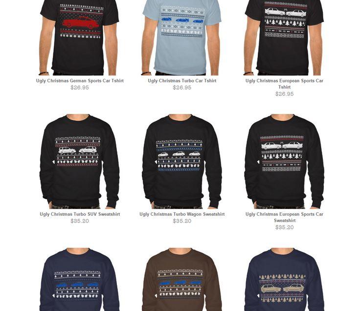 Car themed holiday xmas sweatshirts!  http://www.zazzle.com/planetcreep  #car #uglychristmassweater #christmas #xmas #design #pathhern #cars #rally #subaru #wrx #sti #impreza #porsche #bmw #volkswagen