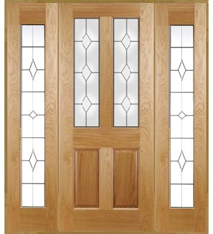 Edwardian Diamond Grand Entrance With 1 x Door & 2 x Sidelights. An entrance door that is a little bit special, traditional style with raised & fielded panels triple glazed sleek in appearance.