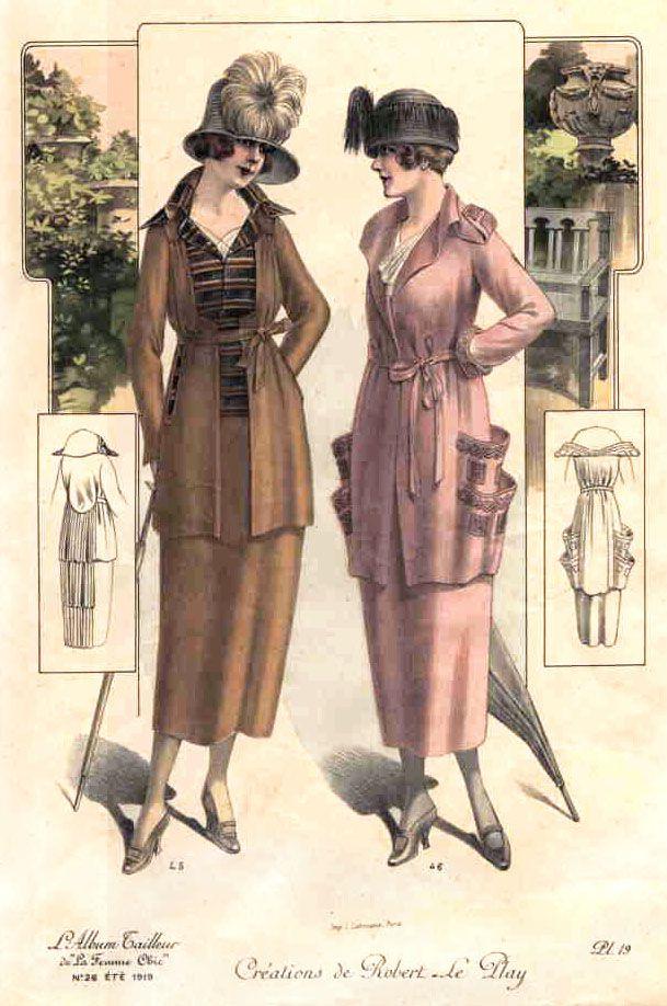"jillthejellyfish: "" La Femme Chic, 1919 """