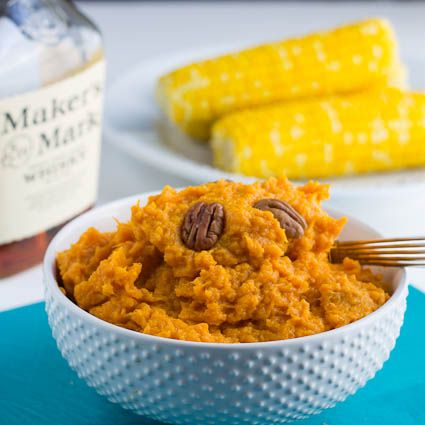 Bourbon Mashed Sweet Potatoes!!!! YUM!!! Vegan by just using non ...