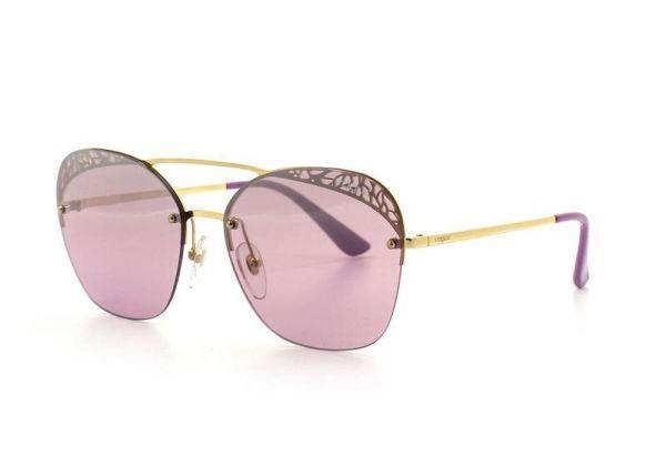 Oculos De Sol Vogue Metal Lente Acrilico Redonda Feminino