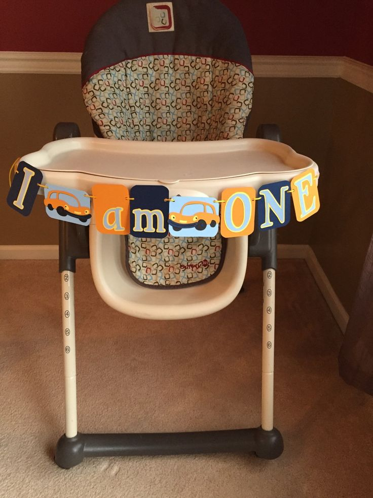 Car Theme I AM ONE Birthday High Chair banner, Perfect for a Car or Transportation first birthday theme by HandmadeByVee on Etsy