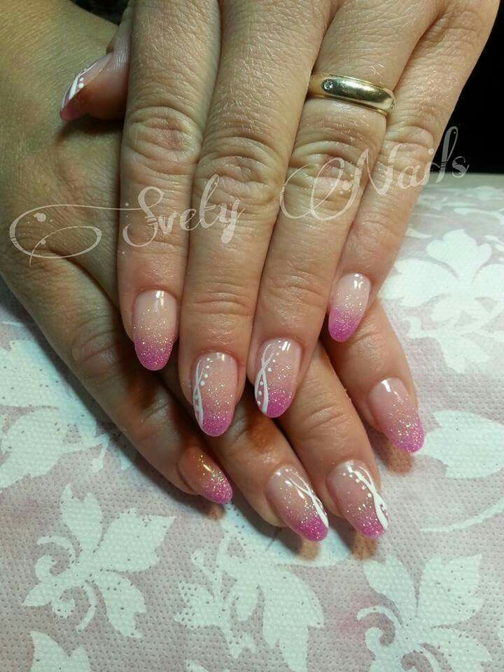 French rosa polvere glitter strisce