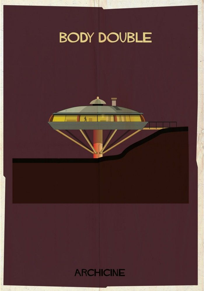 ARCHICINE: Illustrations of Architecture in Film - Federico Babina / Body Double. Directed by Brian De Palma