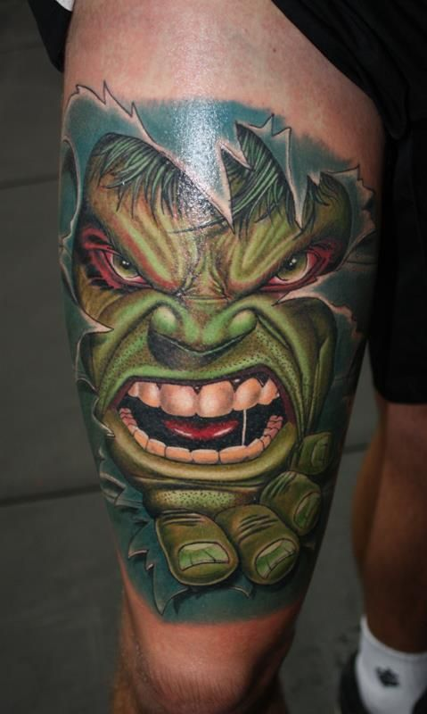 Incredible Hulk, I would never get this but it's awesome!